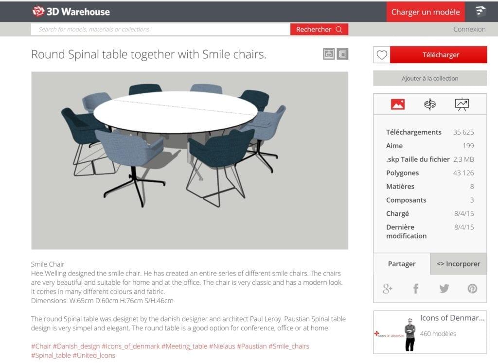 10 sites o t l charger gratuitement des objets 3d pour l architecture archigrind. Black Bedroom Furniture Sets. Home Design Ideas