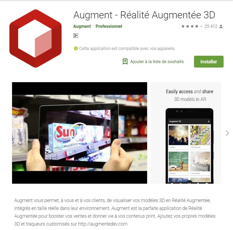 Augment, Application Réalité Augmentée pour Architectes